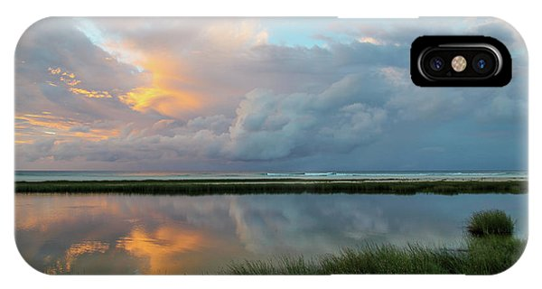 Storm Cloud Reflections At Sunset IPhone Case