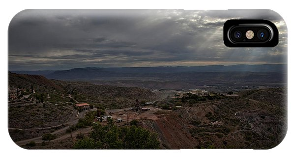 Storm Clouds And Suns Rays Jerome Az IPhone Case