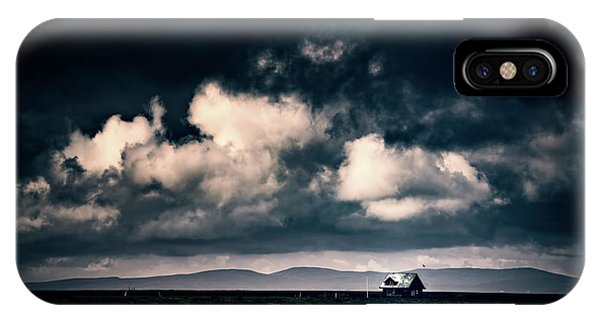 Storm Clouds In Iceland IPhone Case