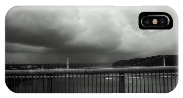 Storm Clouds On The Hudson IPhone Case