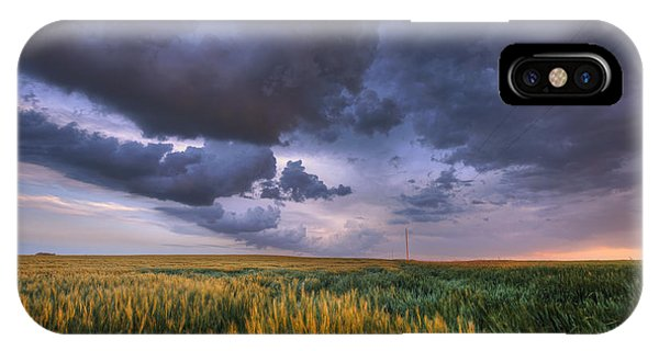 Storm Clouds Over Barley IPhone Case
