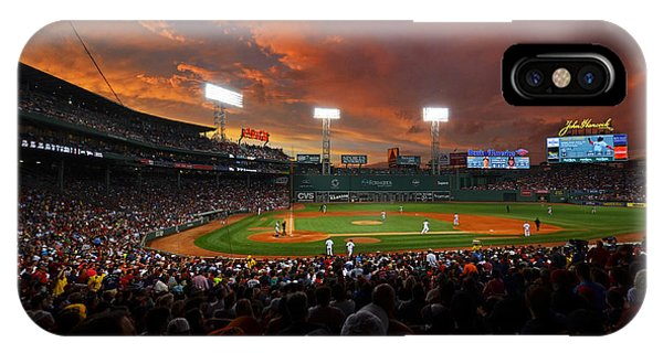 Storm Clouds Over Fenway Park IPhone Case