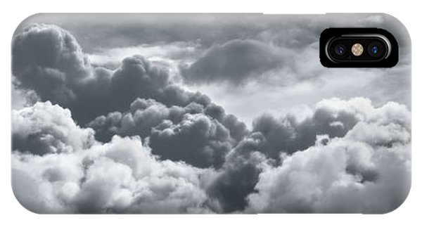 Weathered iPhone Case - Storm Clouds Over Sheboygan by Scott Norris