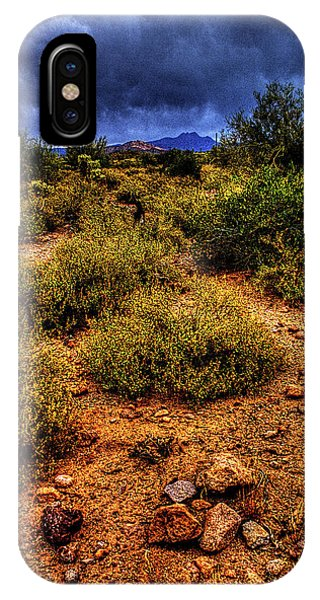 Storm Clouds Over The Sonoran Desert In Spring IPhone Case