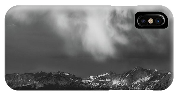 IPhone Case featuring the photograph Storm Clouds Over Yosemite by Sharon Seaward