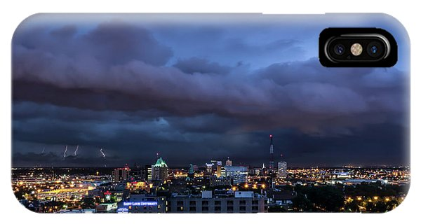 IPhone Case featuring the photograph Storm Front by Andrea Silies