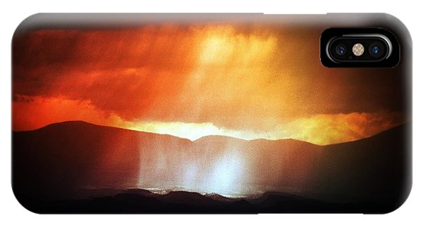 Storm Glow Night Over Santa Fe Mountains IPhone Case