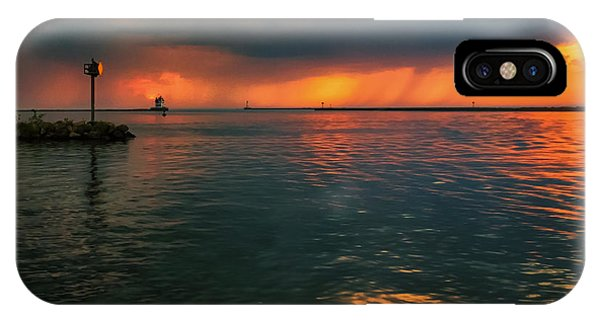 Storm In Lorain Ohio At The Lighthouse IPhone Case