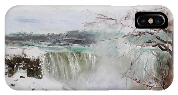 Storm In Niagara Falls  IPhone Case