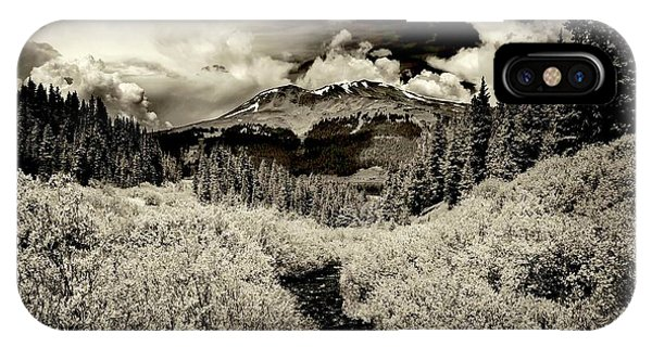 Storm In The Highlands, Summit County, Colorado IPhone Case