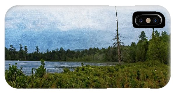IPhone Case featuring the digital art Storm On Raquette Lake by Christopher Meade