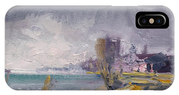 Storm iPhone Case - Storm Over Buffalo River  by Ylli Haruni