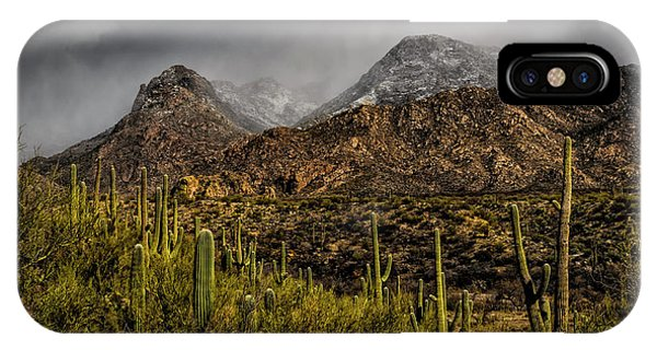 IPhone Case featuring the photograph Storm Over Catalinas 15 by Mark Myhaver
