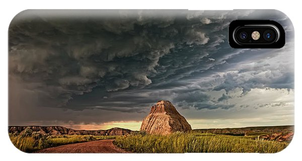 Storm Over Dinosaur IPhone Case
