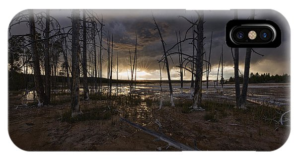 Storm Over Lower Geyser Basin IPhone Case