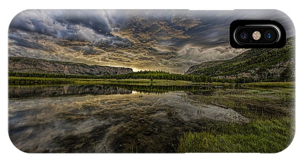 Storm Over Madison River Valley IPhone Case