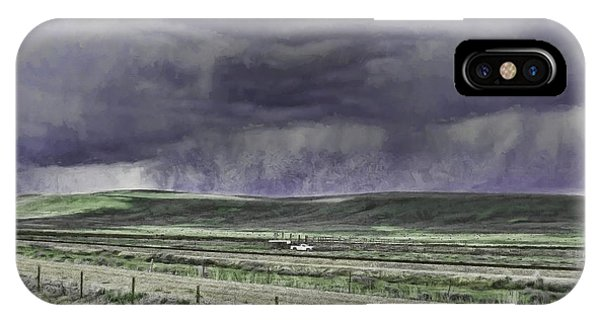 Storm Over Monida Pass  IPhone Case