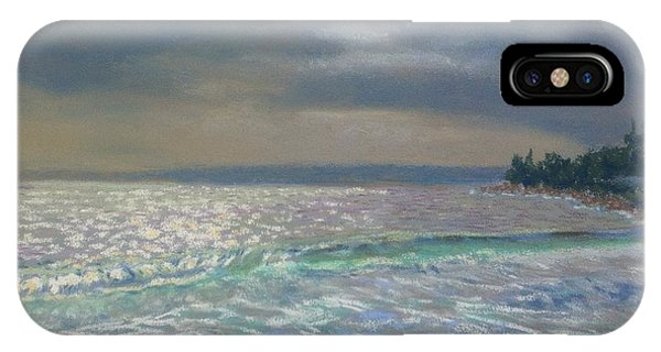 Storm Over Queensland Beach ,nova Scotia IPhone Case