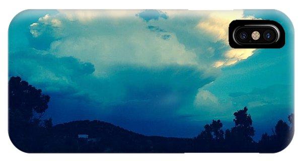 Storm Over Santa Fe IPhone Case