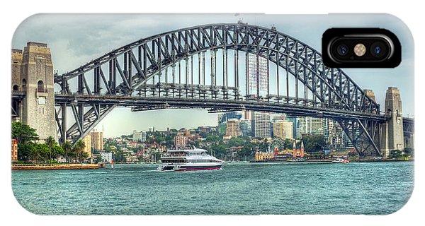 Storm Over Sydney Harbour Bridge Phone Case by Chris Smith