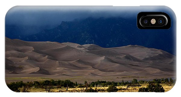 Storm Over The Great Dunes Colorado  IPhone Case