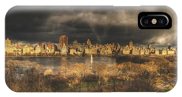 Storm Over The Park Phone Case by Ariane Moshayedi