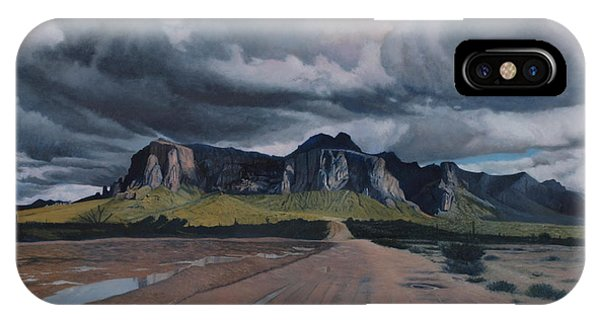 Storm Over The Superstitions IPhone Case
