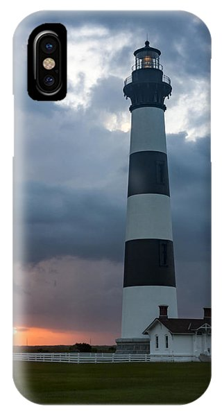 Storm Passes Bodie Island Lighthouse IPhone Case
