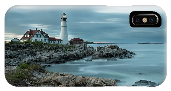 Storm Passing At Portland Head Light IPhone Case