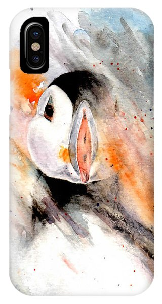 Storm Puffin IPhone Case