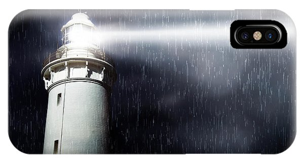 Navigation iPhone Case - Storm Searchlight by Jorgo Photography - Wall Art Gallery