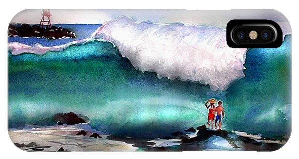 Storm Surf Moment IPhone Case