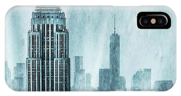 Empire State Building iPhone Case - Storm Troopers by Az Jackson