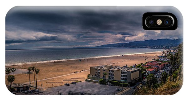 Storm Watch Over Malibu - Panarama  IPhone Case