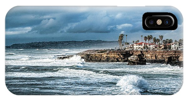 Storm Wave At Sunset Cliffs IPhone Case