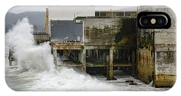 Storm Waves Hit Aeneas Ruins At Cannery Row IPhone Case