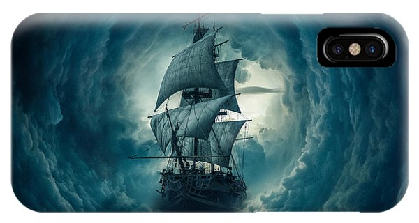 Dark Clouds iPhone Case - Storm by Zoltan Toth
