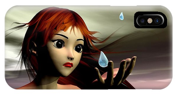 IPhone Case featuring the digital art Storms Coming by Sandra Bauser Digital Art