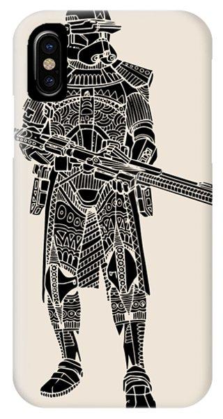 Stormtrooper Samurai - Star Wars Art - Black IPhone Case