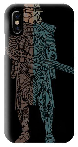 Stormtrooper Samurai - Star Wars Art - Minimal IPhone Case