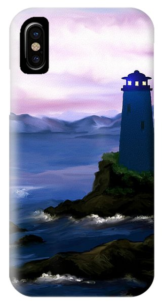 Stormy Blue Night IPhone Case