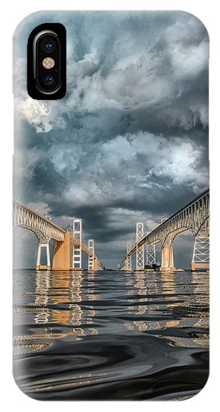 Stormy Chesapeake Bay Bridge IPhone Case