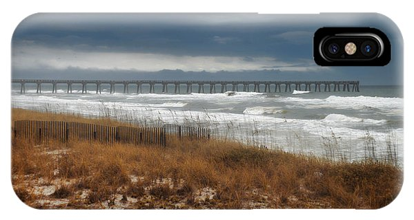 Stormy Day At The Pier IPhone Case