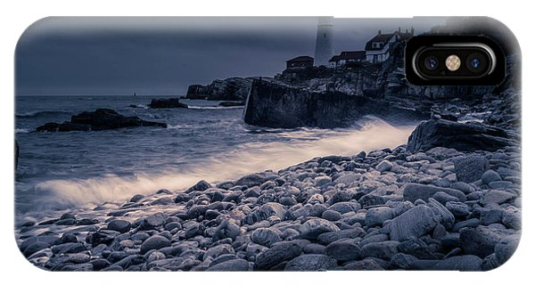 IPhone Case featuring the photograph Stormy Lighthouse 2 by Doug Camara