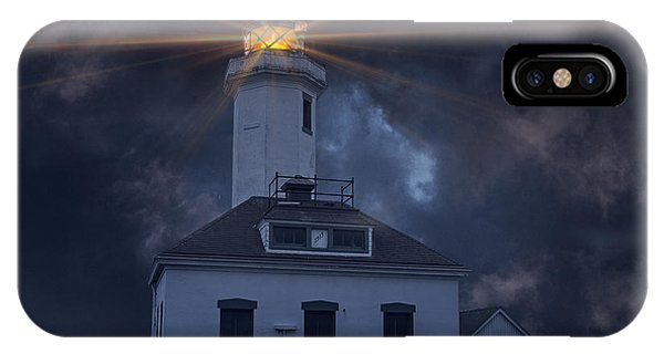 Port Townsend iPhone Case - Point Wilson Lighthouse by Jim Hatch
