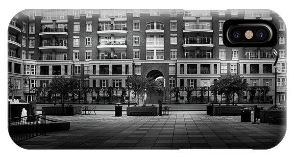 Stormy Morning At North Church Condos In Black And White IPhone Case
