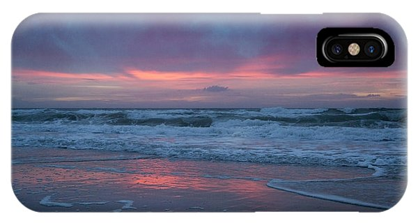 Dark Violet iPhone Case - Stormy Morning Glory by Betsy Knapp