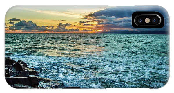 Stormy Ocean Sunset IPhone Case