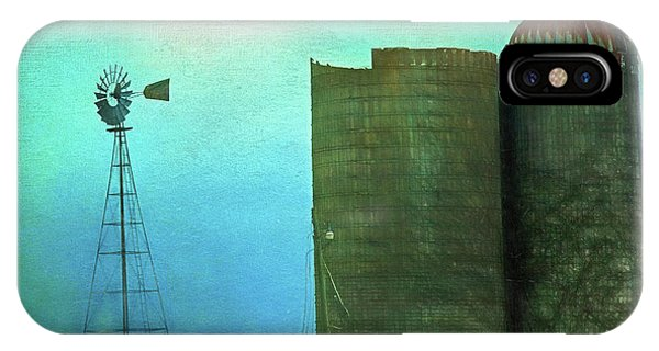 Stormy Old Silos And Windmill IPhone Case