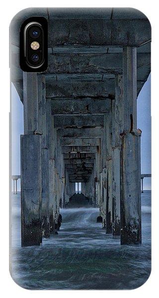 Stormy Pier In Ocean Beach IPhone Case